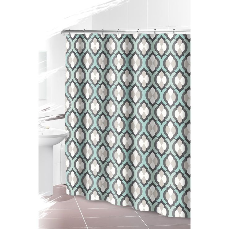 Teal Gray Shower Curtain Gray Shower Curtains Curtains Shower