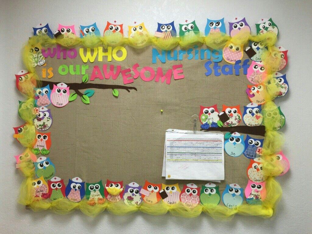 My Awesome Nursing Staff Bulletin Board Nurse Bulletin Board
