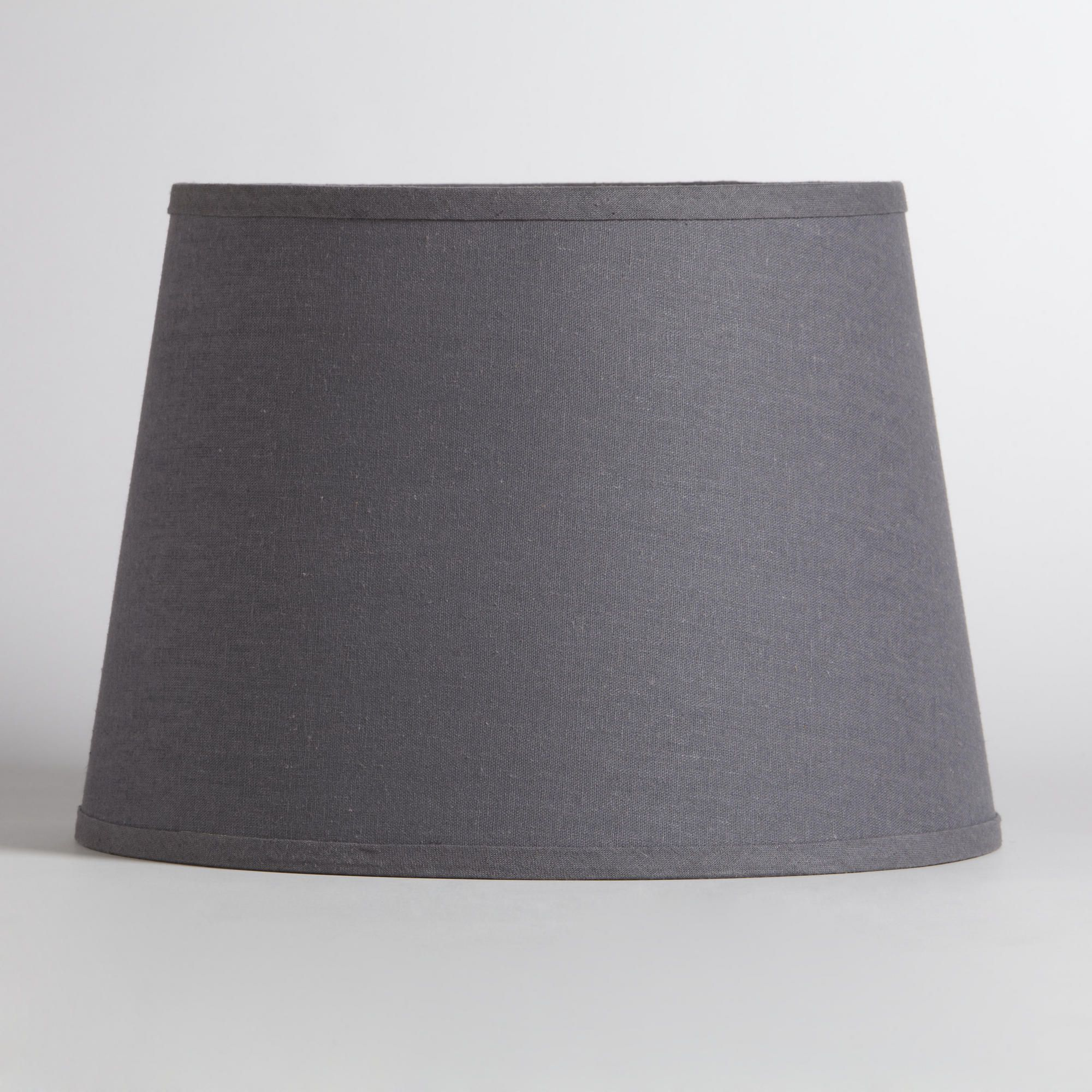 Gray cotton linen table lamp shade world market for holly gray cotton linen table lamp shade world market geotapseo Image collections