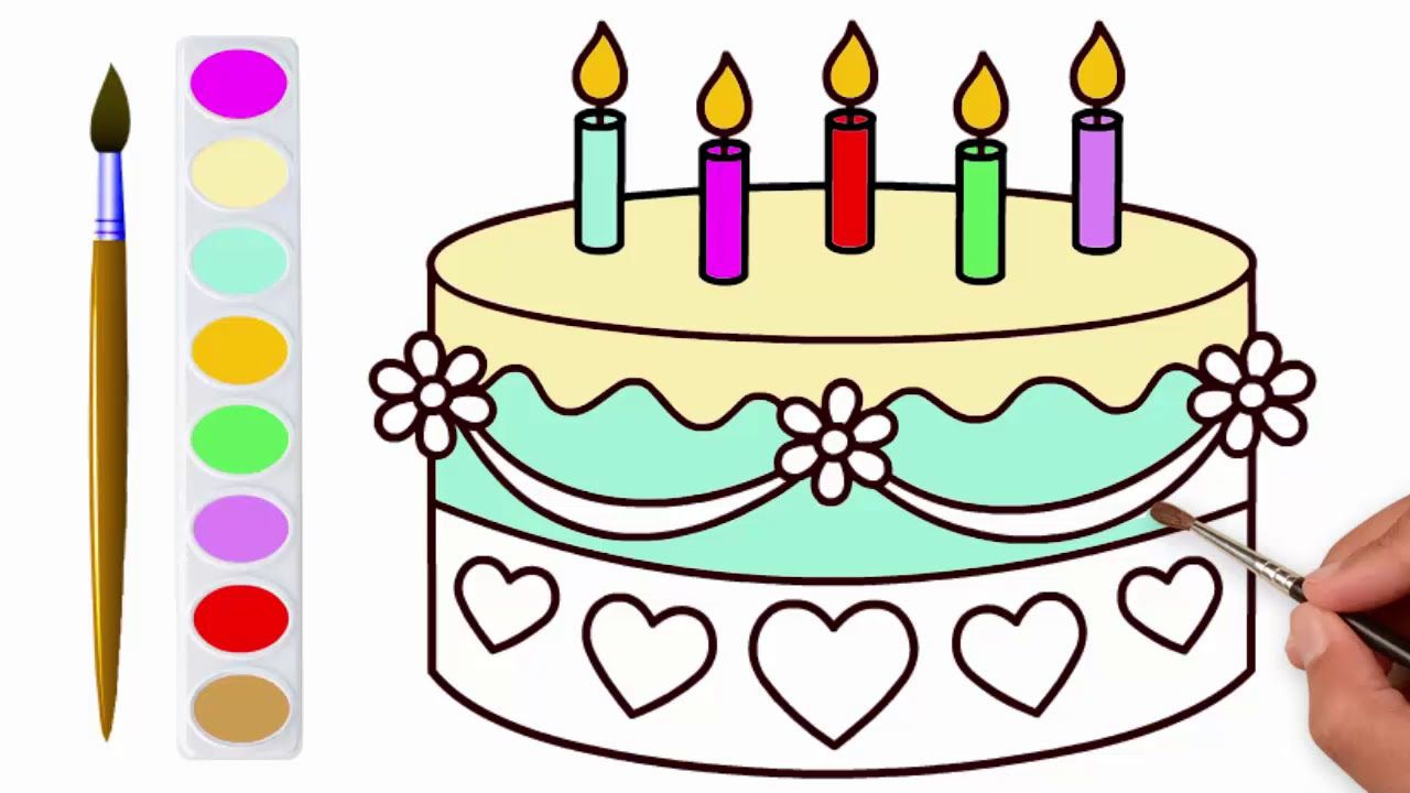 wedding cake coloring pages for children kids drawing