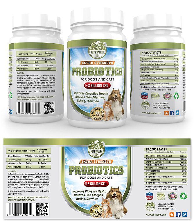 Pet Probiotics Supplement Label Template