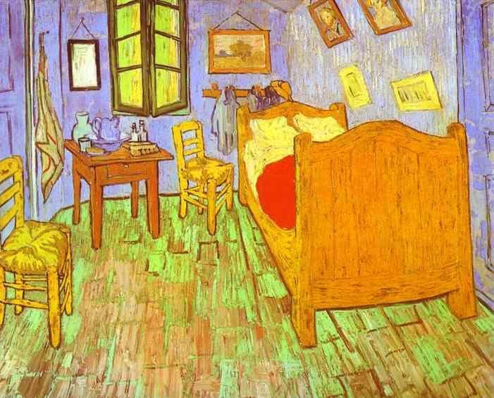 Vincent Van Gogh - Van Gogh\u0027s bedroom in Arles 1889 Saw this one