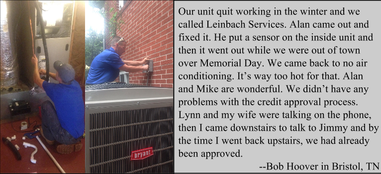 Testimonials Leinbach Services Air conditioning units