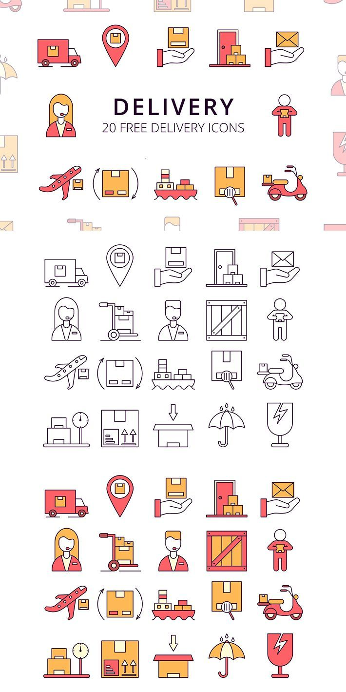 Delivery Vector Free Icon Set (With images) Free icon