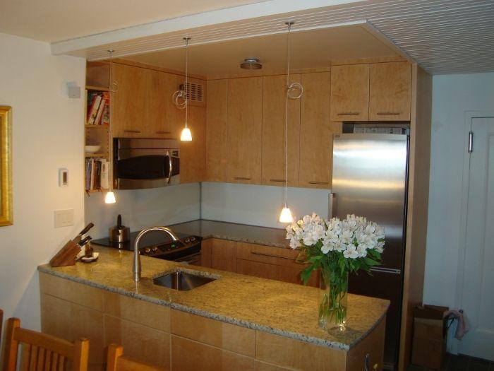 Curly Maple Kitchen | Maple kitchen, Condo kitchen, Kitchen