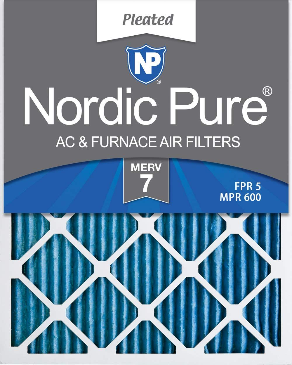 Nordic Pure 12x24x1 MERV 7 Pleated AC Furnace Air Filters