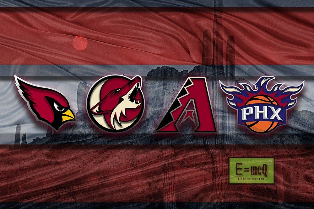 Phoenix Sports Poster, Phoenix Arizona Sports Artwork, AZ ...