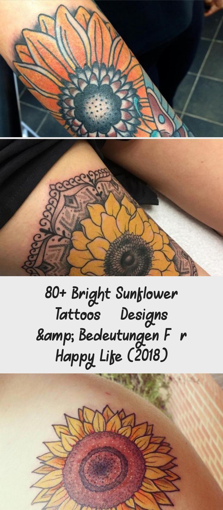 Photo of 80+ Bright Sunflower Tattoos – Designs & Bedeutungen für Happy Life (2018)  #be…