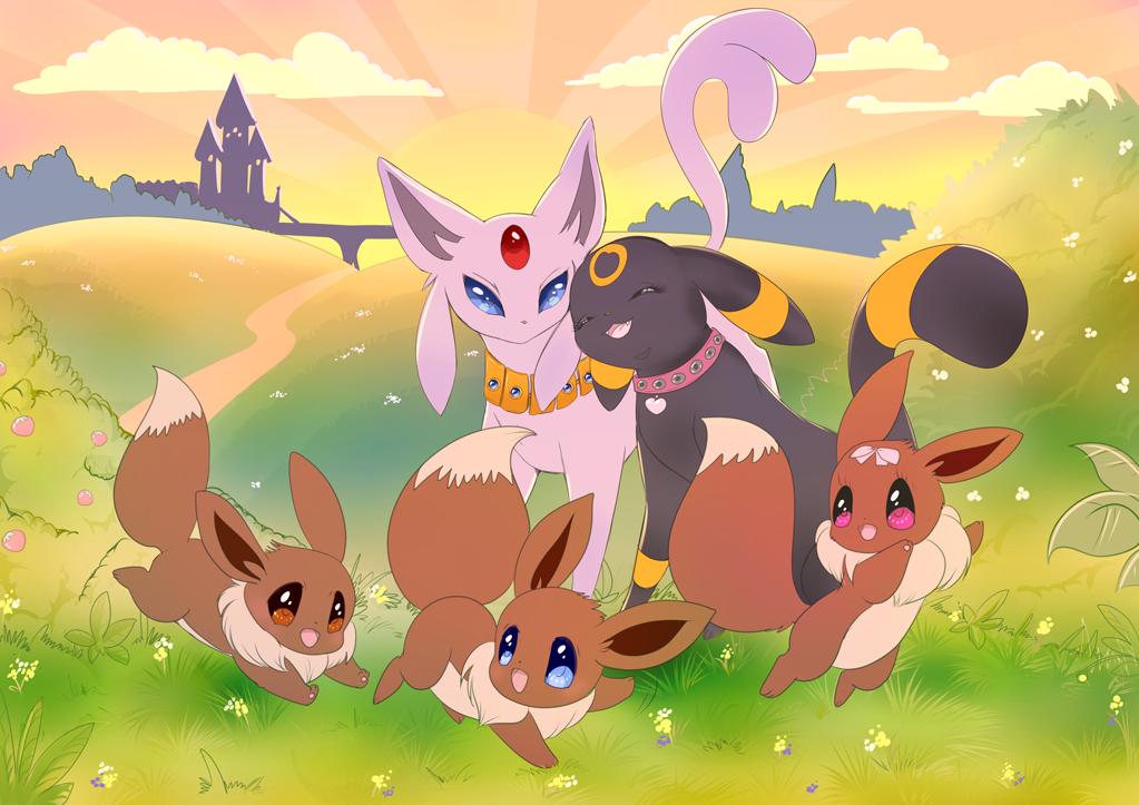 family Pokemon eevee