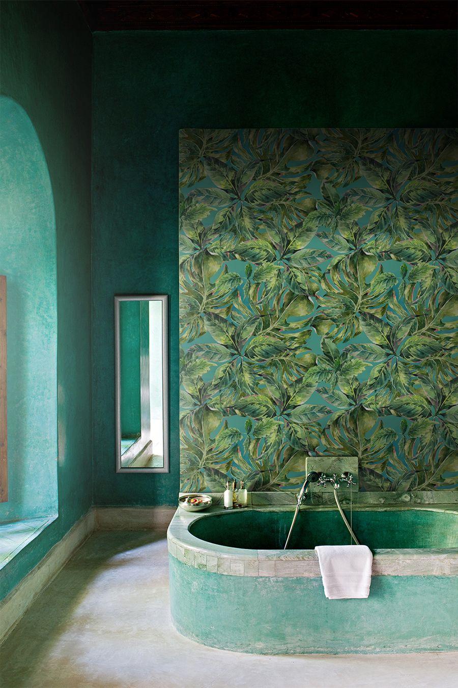 amazon rainforest removable wallpaper flower mural on bathroom wall decor id=11406