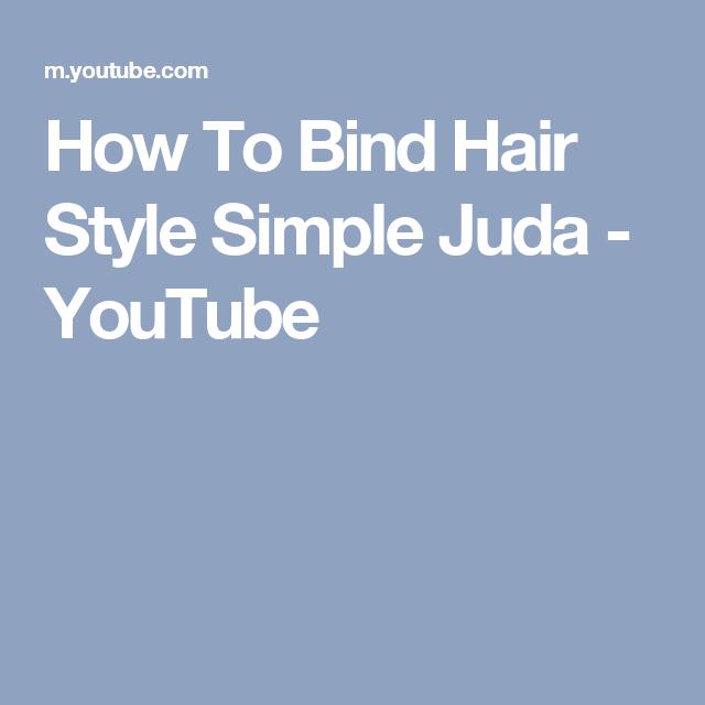 How To Bind Hair Style Simple Juda - YouTube
