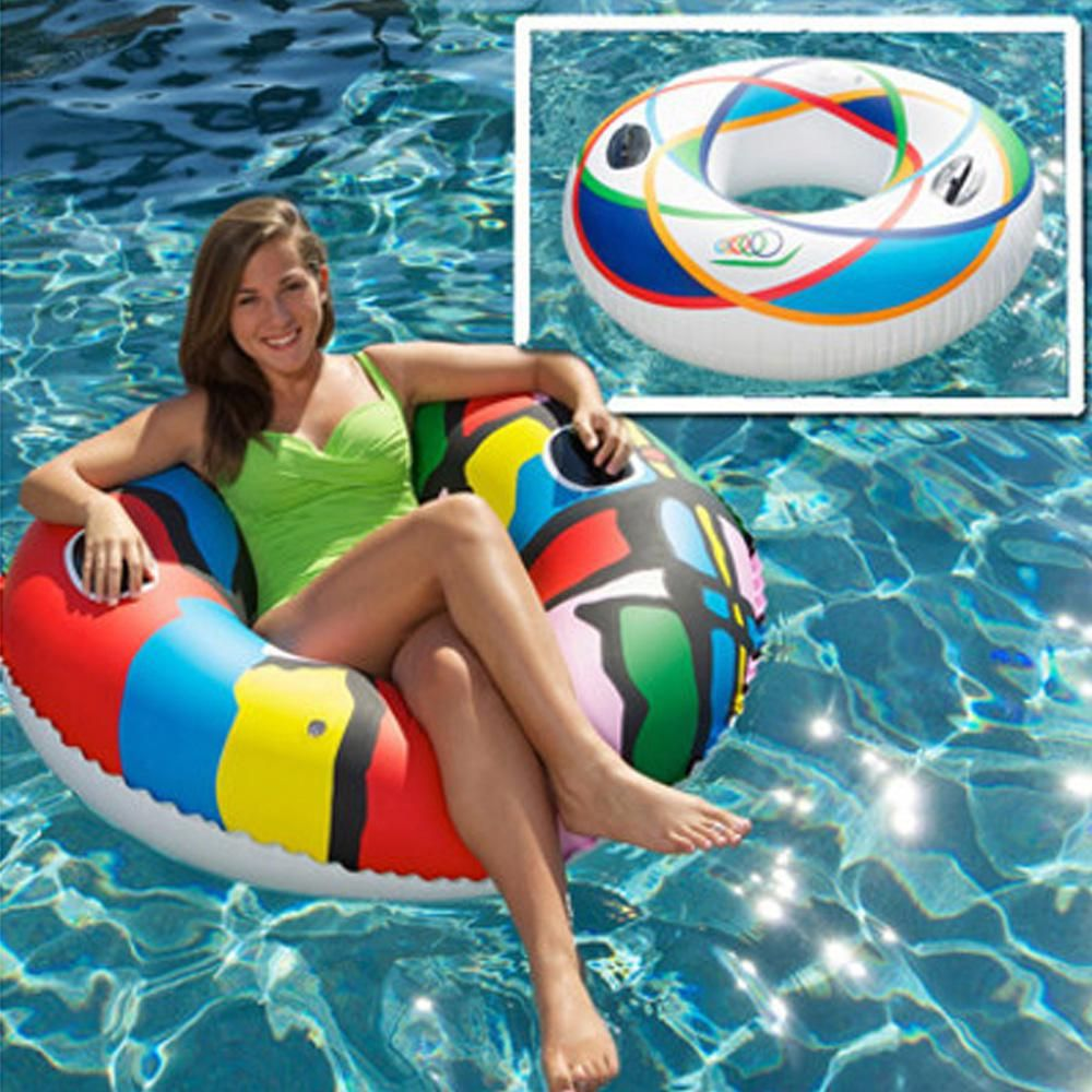 Sunsplash 46 In Spiral And Splash Swimming Pool Sports Tube Combo 2 Pack 449 7 1430bag Pd 02 The Home Depot Splash Swimming Pool Sport Pool Pool Tube