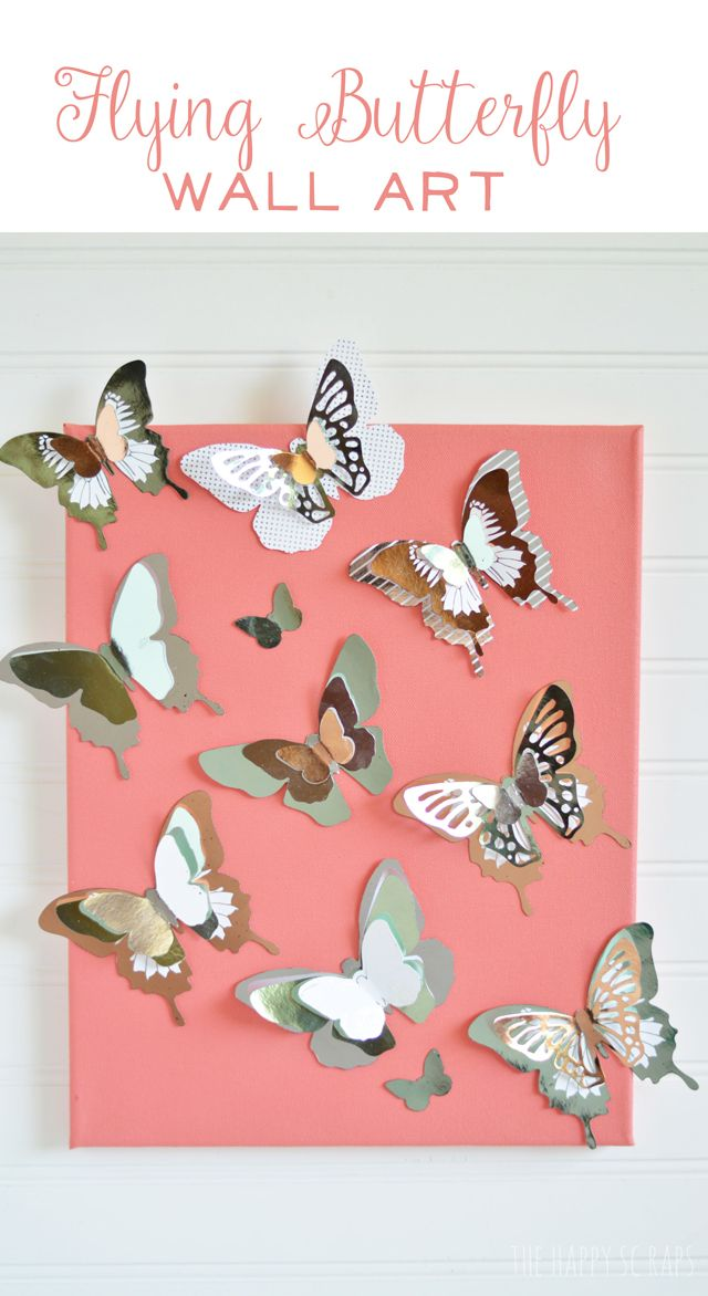 This flying butterfly wall art would be the perfect way to break in my new minc