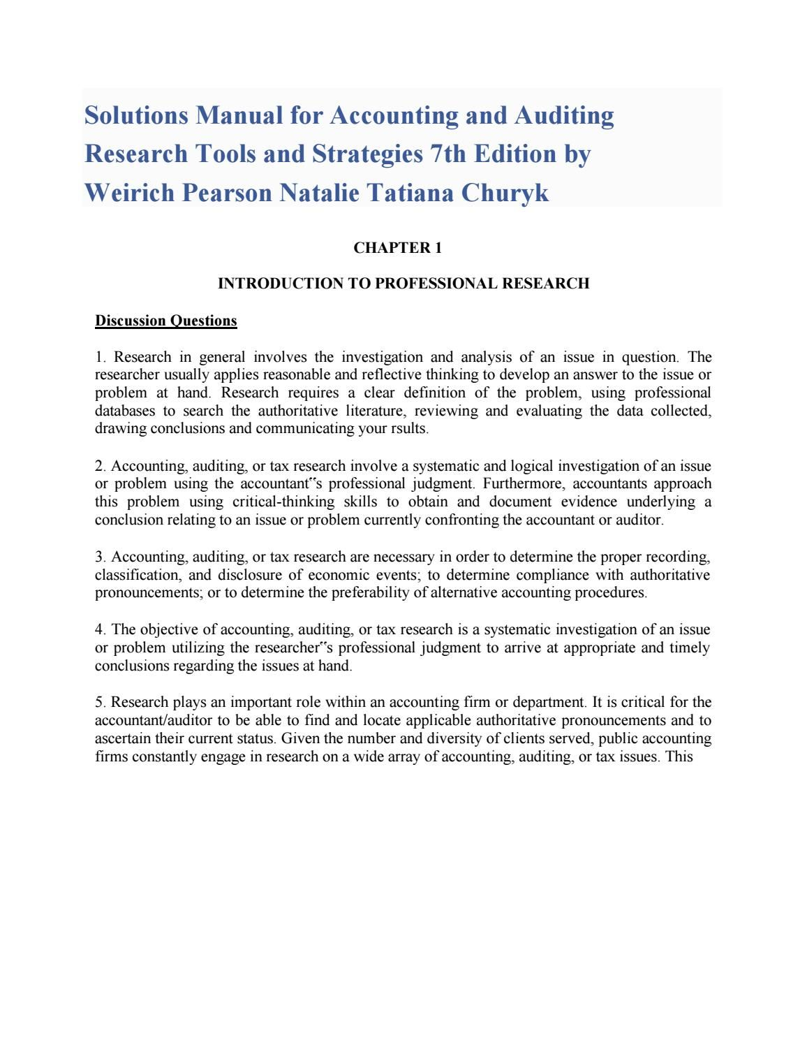 Link download solution accounting and auditing research
