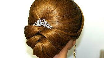 Hair Tutorial: Easy Elegance Hair Bun - YouTube