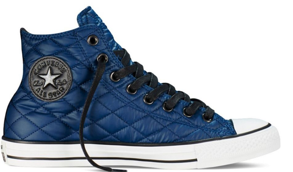 f4d66cf9e631 Converse Chuck Taylor All Star High QUILTED NYLON 149453C Nighttime Navy  sneaker