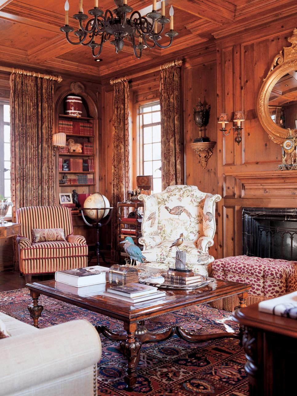 Wood Paneled Den: Paneled Library, Wood Paneling