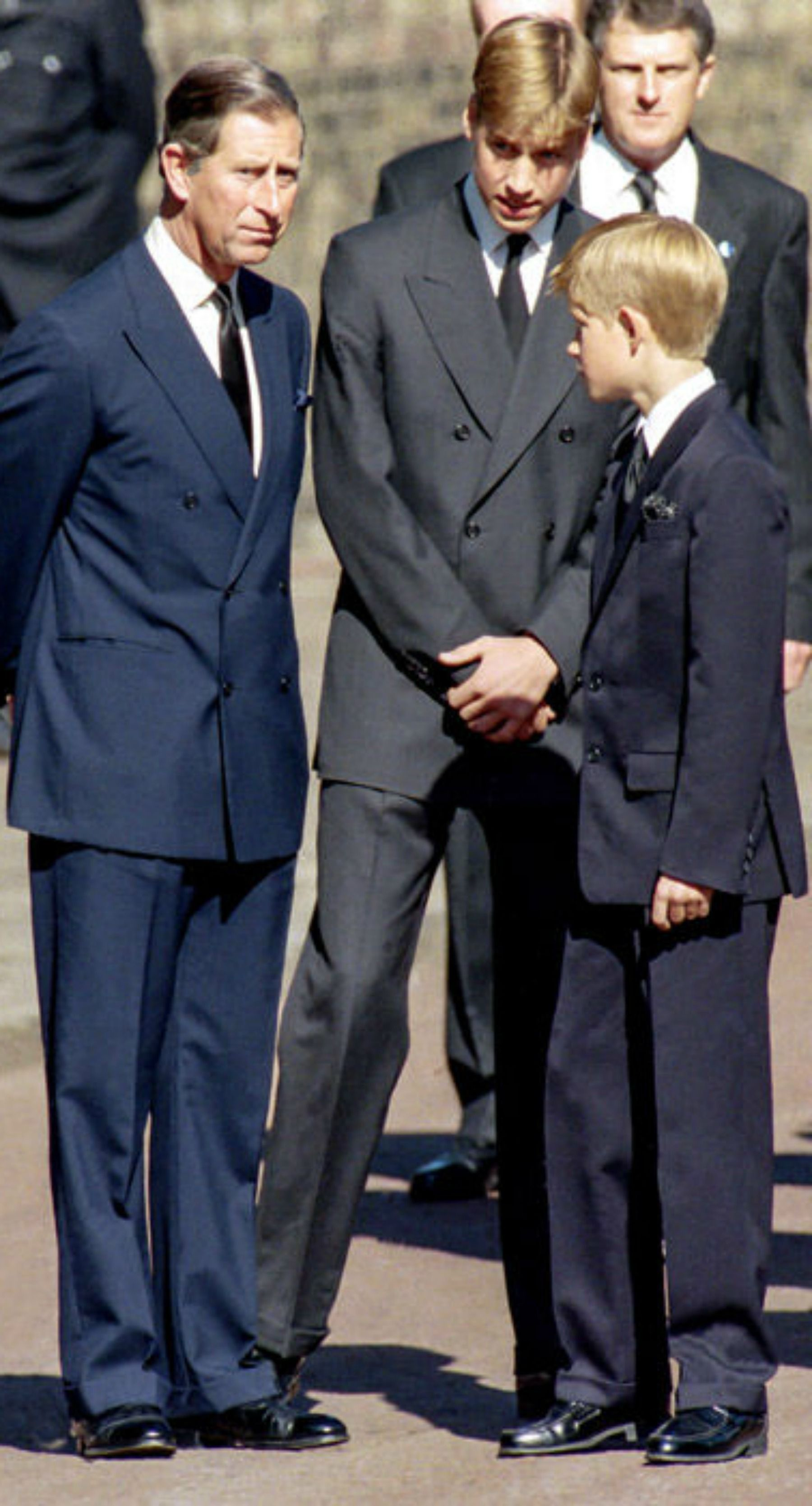 Charles, Prince of Wales, Prince William, and Prince Harry
