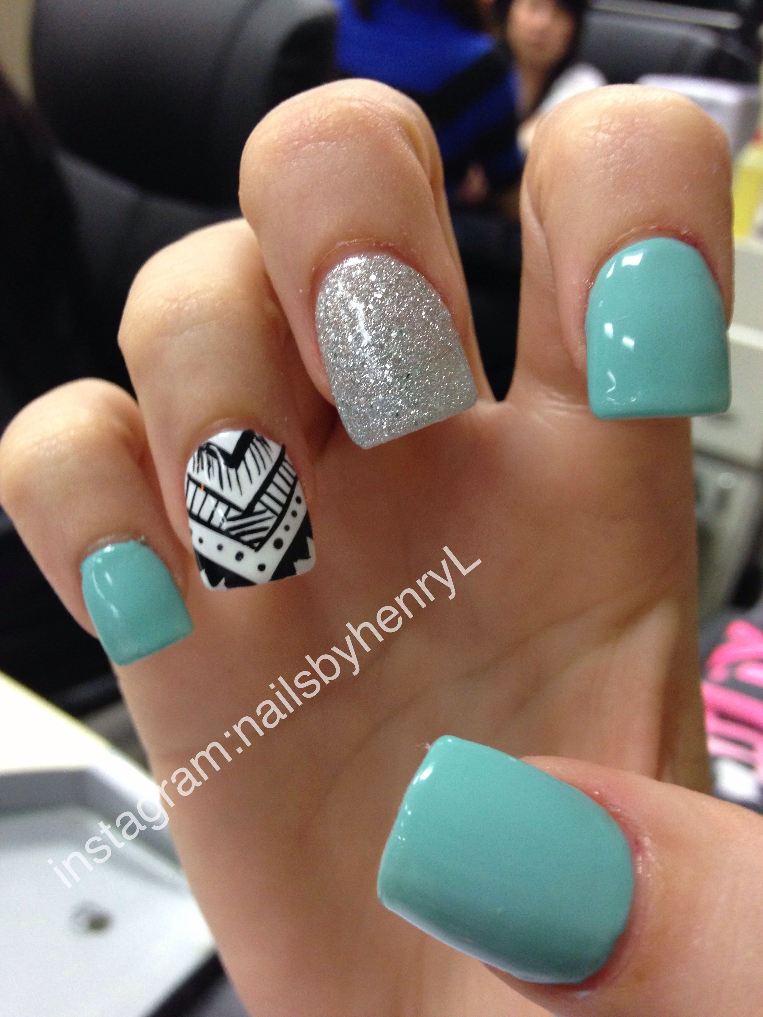 tribal nail design | nail art | Pinterest | Diseños de uñas, Uñas ...