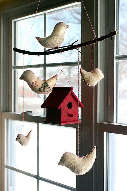 pretty birdhouse mobile. by ♥ ella minnow peas ♥, via Flickr