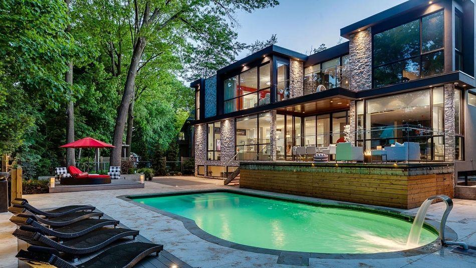Maison Canadienne En Bois > Incroyable maison contemporaine canadienne de pierre et de bois, #construiretendance