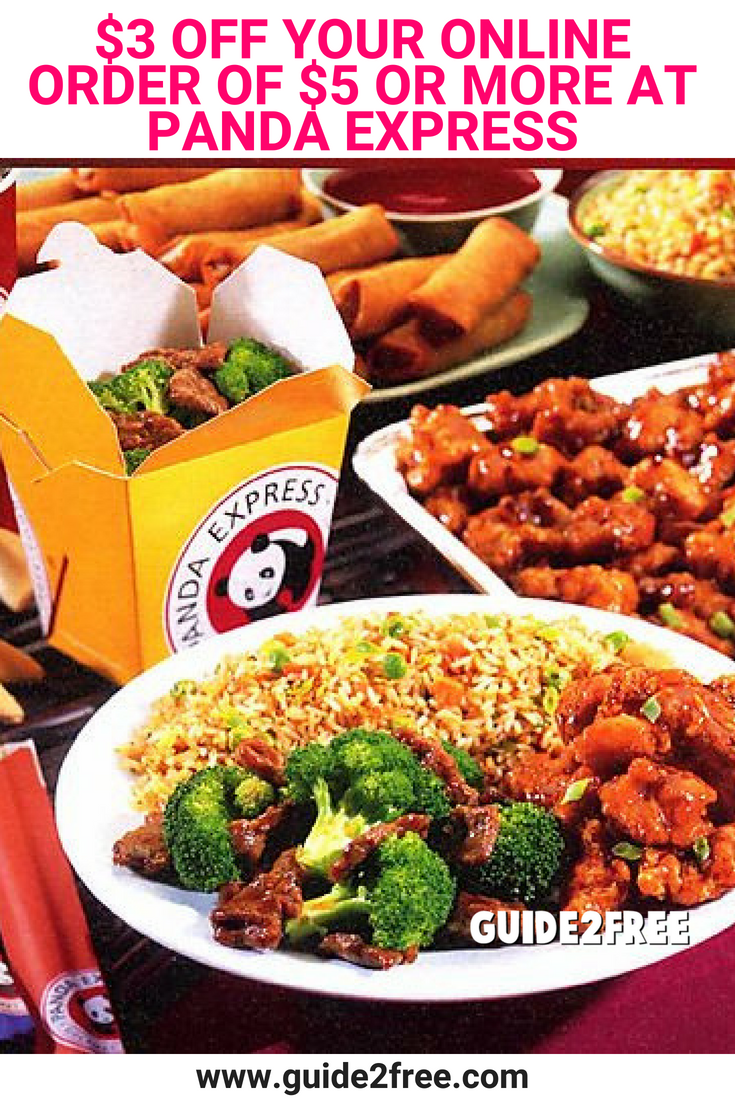 Panda Express 3 Off Your Online Order Of 5 Or More Food Best Chinese Food Panda Express