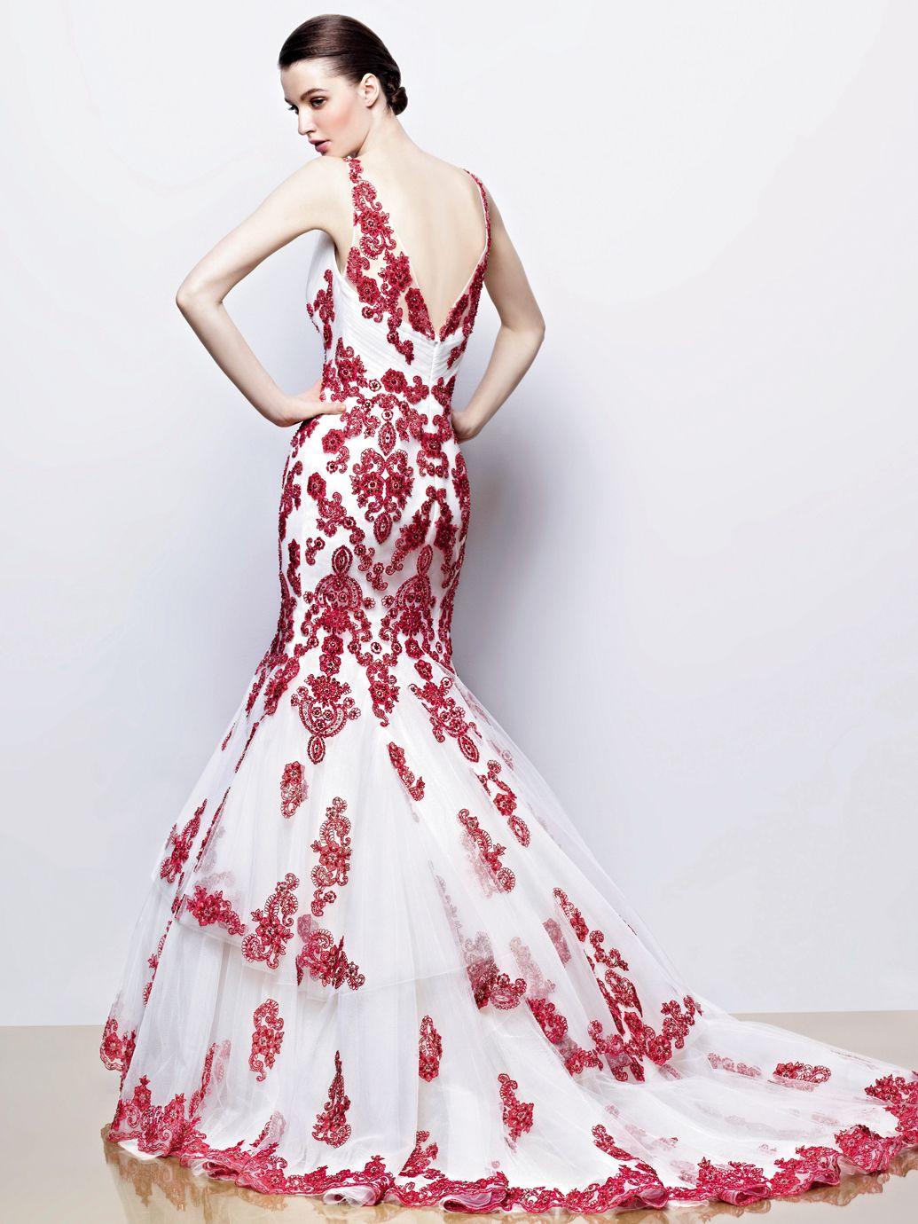 Enzoani Ilyssa Ivory / Red Wedding Dress #Wedding | Wedding stuff ...