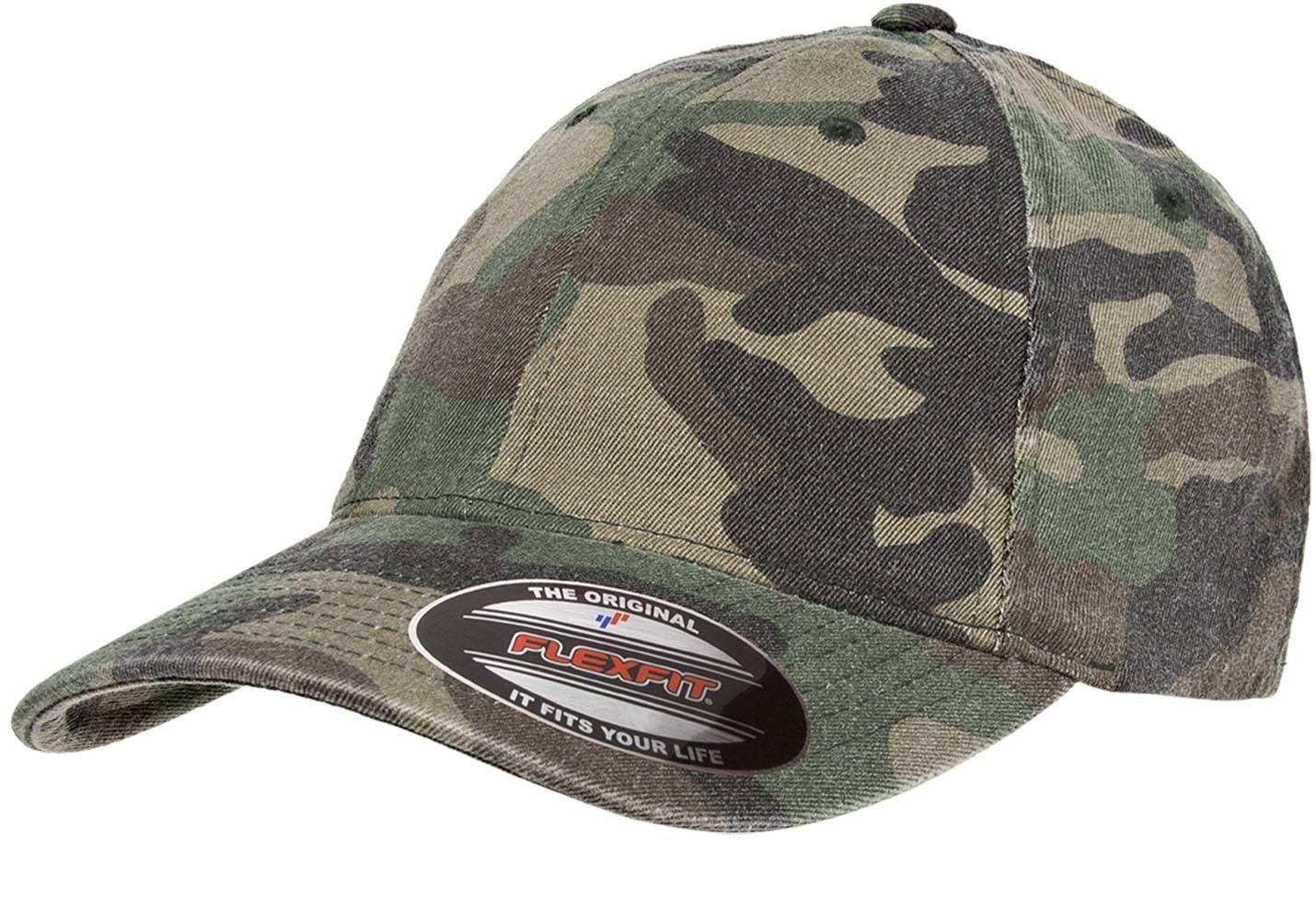 Wholesale Flexfit Yupoong 6977CA Flexfit Garment Washed Camo Hat  Green  Camo  1ae38a6c4dc3