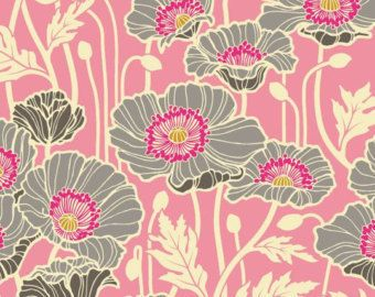 Sateen Pristine Poppy in Pink by Joel Dewberry for the Notting Hill Collection