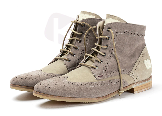 """KOST - KROCKY / """"EXCLUSIVE ELEGANCE"""" FROM FRANCE #kost #style #grey #leather #madeinfrance #paris #boots #derbys #high #men #gq #elegance #chaussures #shoes"""