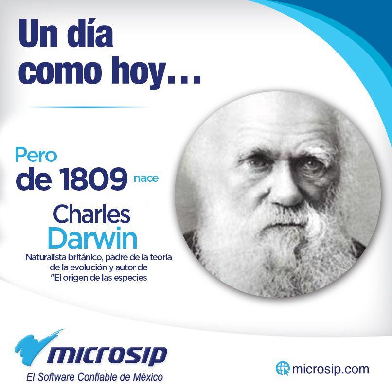 """Un día como hoy 12 de febrero, pero de 1809 nace Charles Darwin, naturalista británico, padre de la teoría de la evolución y autor de """"El origen de las especies""""."""