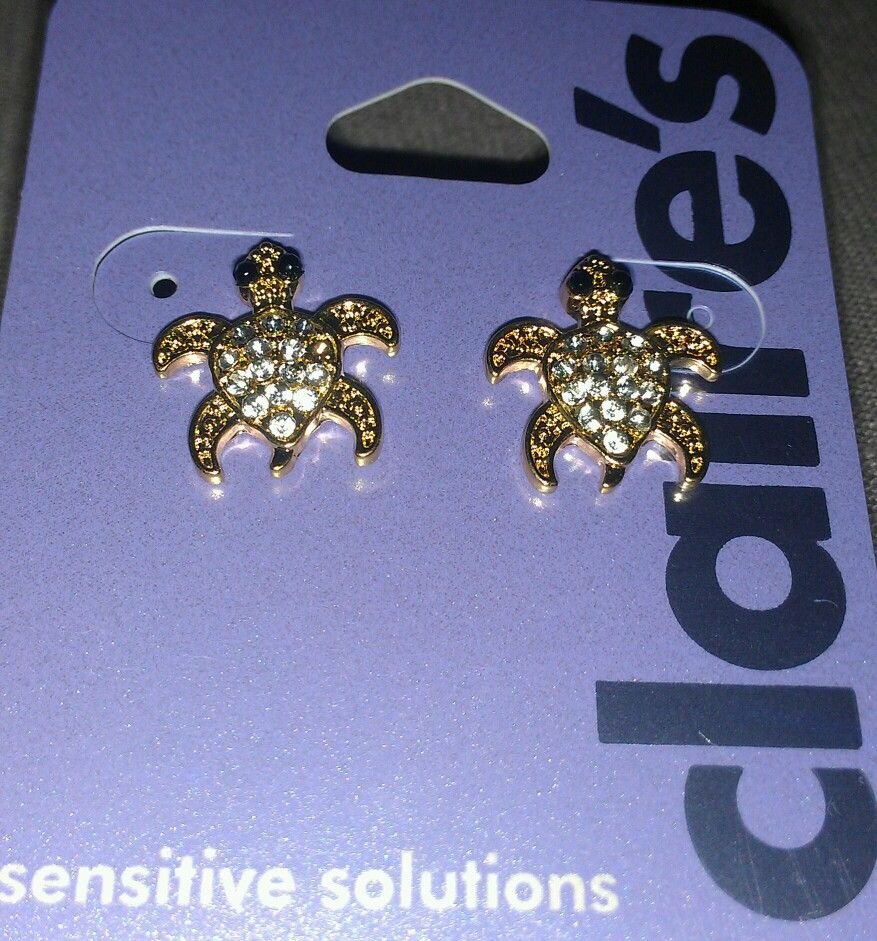 Turtle Earrings From Claire's