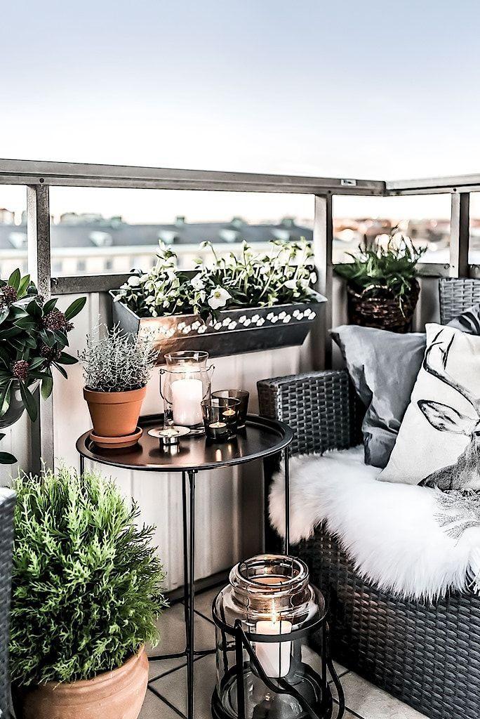 Balcon hygge pour un appartement familial | Deco balcon ...