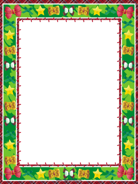 Stars And Bows Christmas Border