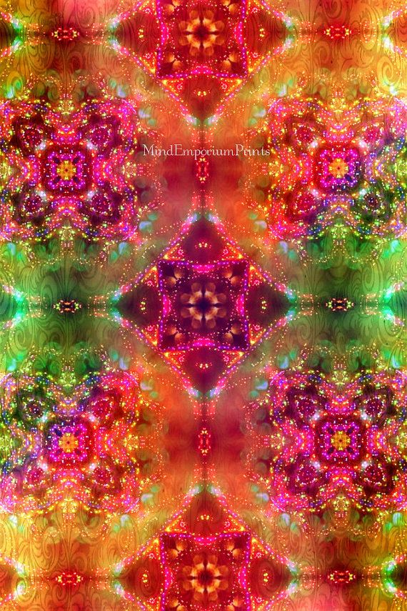 Prana Multi 5 Digital Art Print Psychedelic by MindEmporiumPrints, $20.00