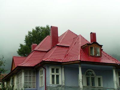 Como Elegir Los Colores Para El Exterior De Tu Casa Techo Rojo Pinturas De Casas Exterior Pinturas De Casas