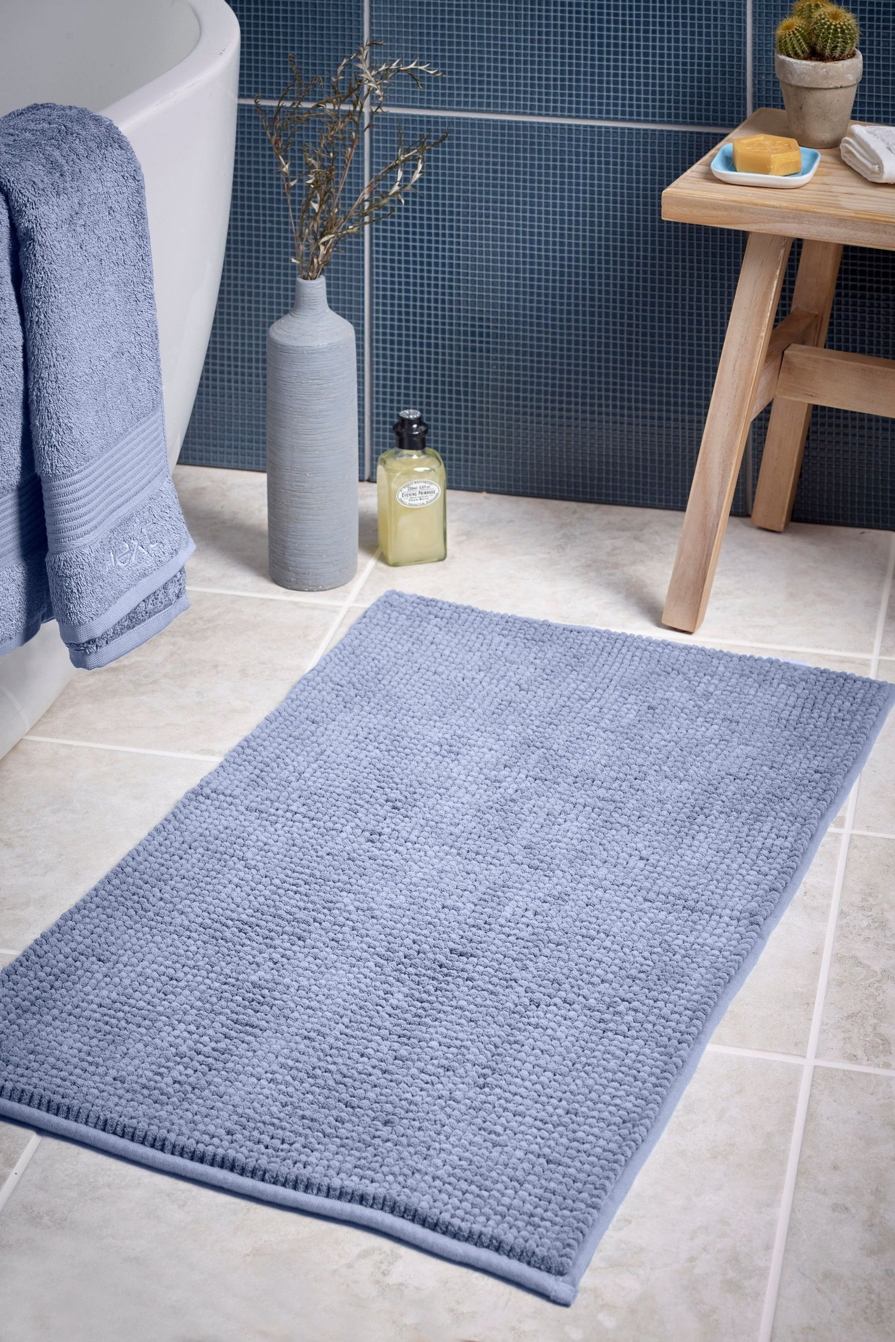 Next Bobble Bath Mat Blue In 2020 Blue Bath Mat Bathroom