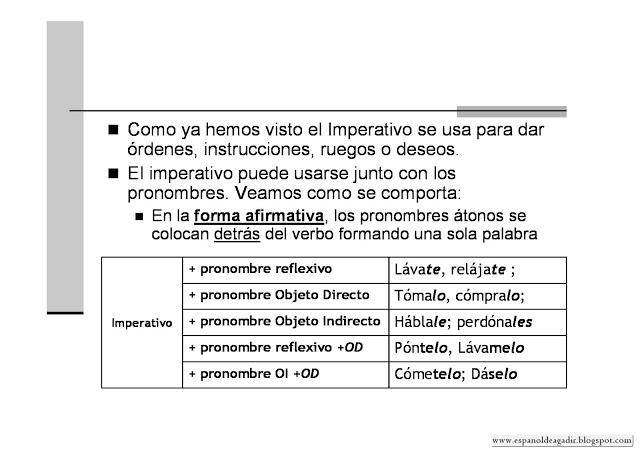 Muchos Ejs En El Blog Imperativo En Español El Imperativo Modo Imperativo