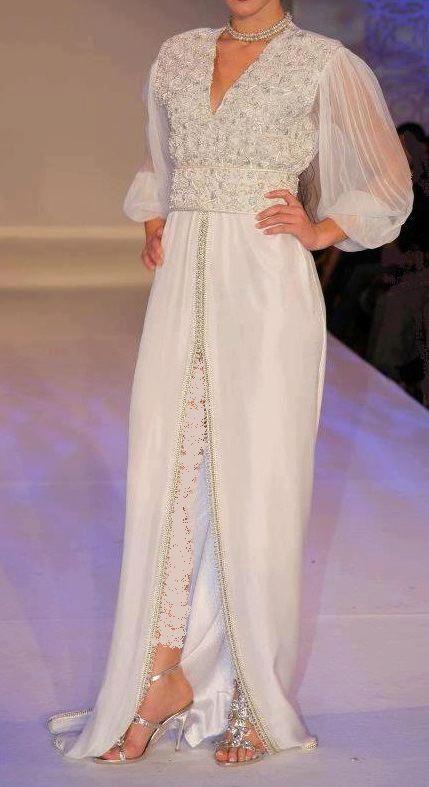 white jabador   Arabic Fashion   Pinterest   Takschita, Kleidung und ... acde8d0c4b
