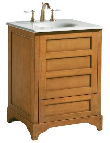 Craftsman and mission style bathroom vanities 24 inch vanity and vanities for Craftsman style bathroom vanities