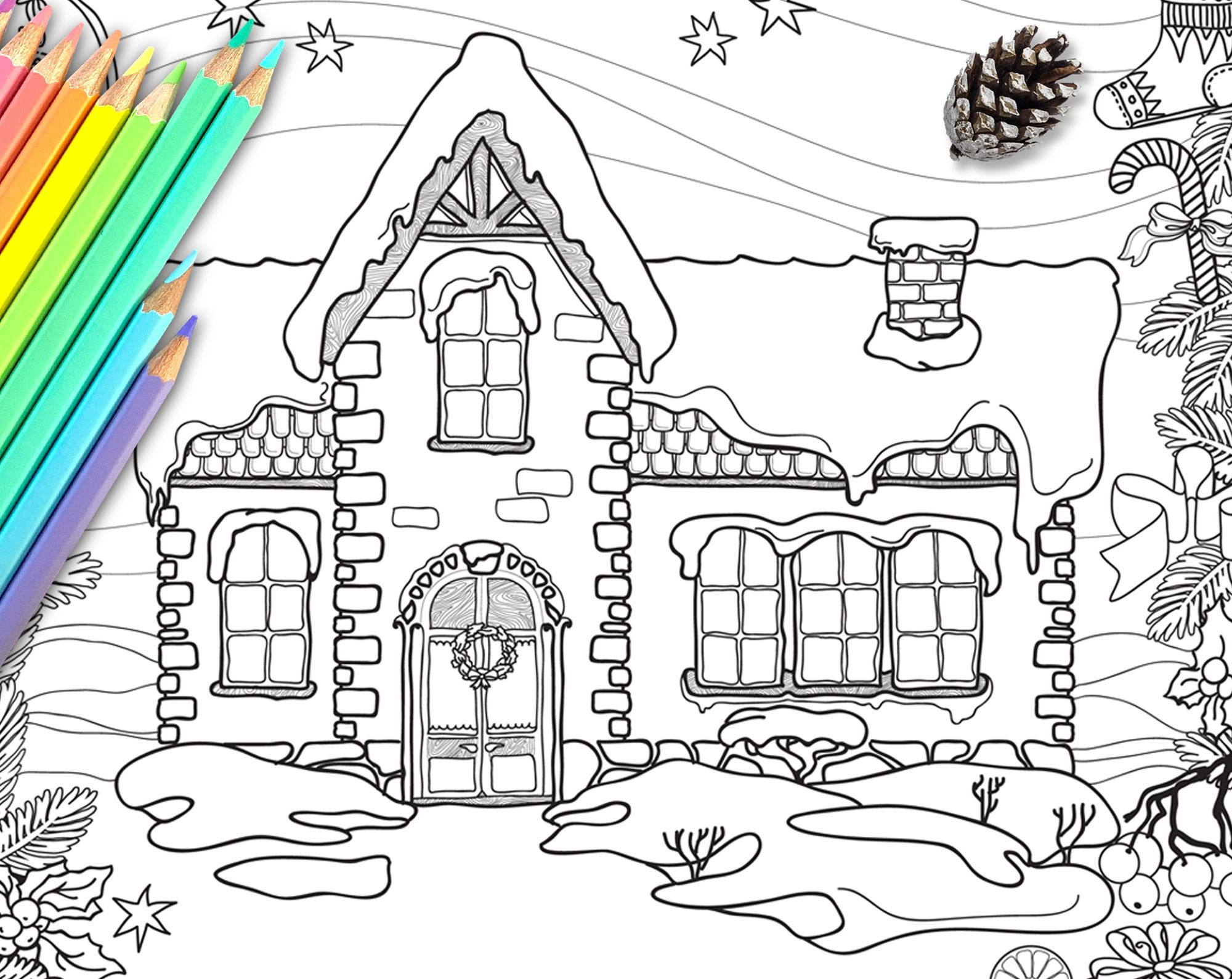 Pin On Christmas Coloring Pages For Adult And Kids