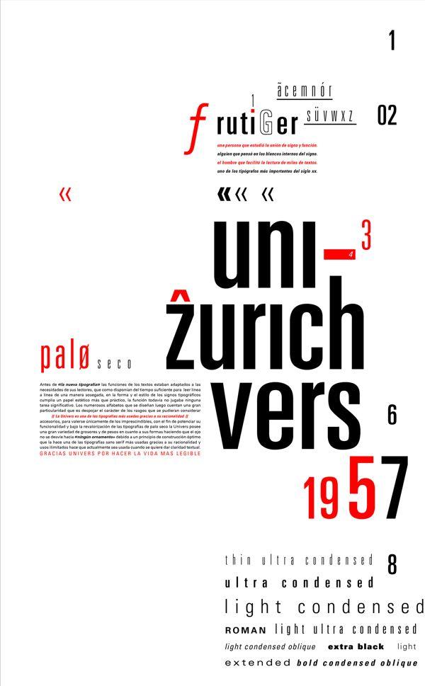 UNIVERS FONT (Grotesque font)