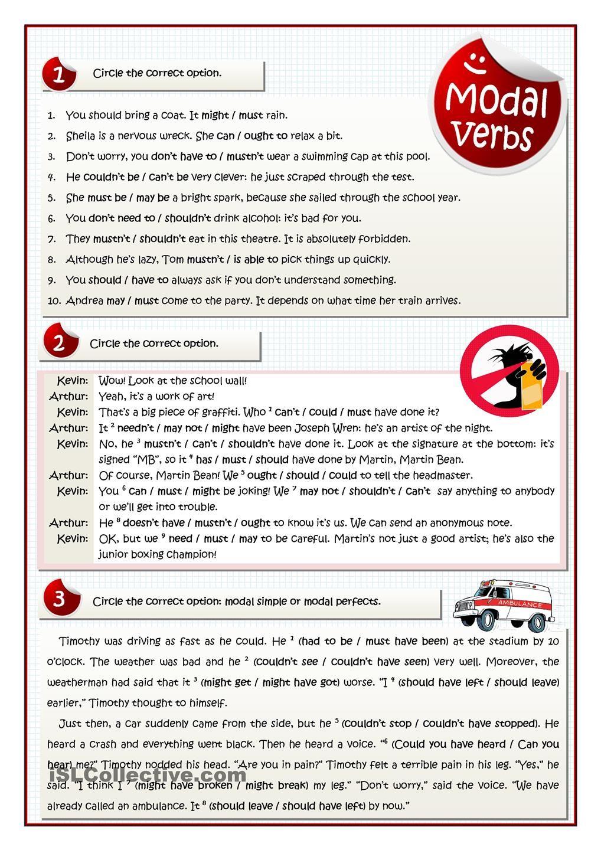 MODAL VERBS - MULTIPLE CHOICE PRACTICE   Grammar, vocabulary ...