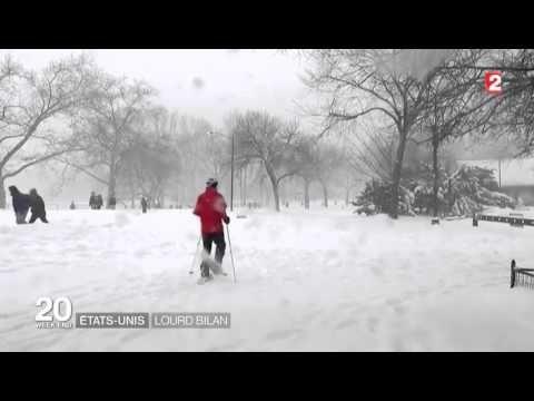 Snowzilla énorme tempête de neige aux USA janvier 2016