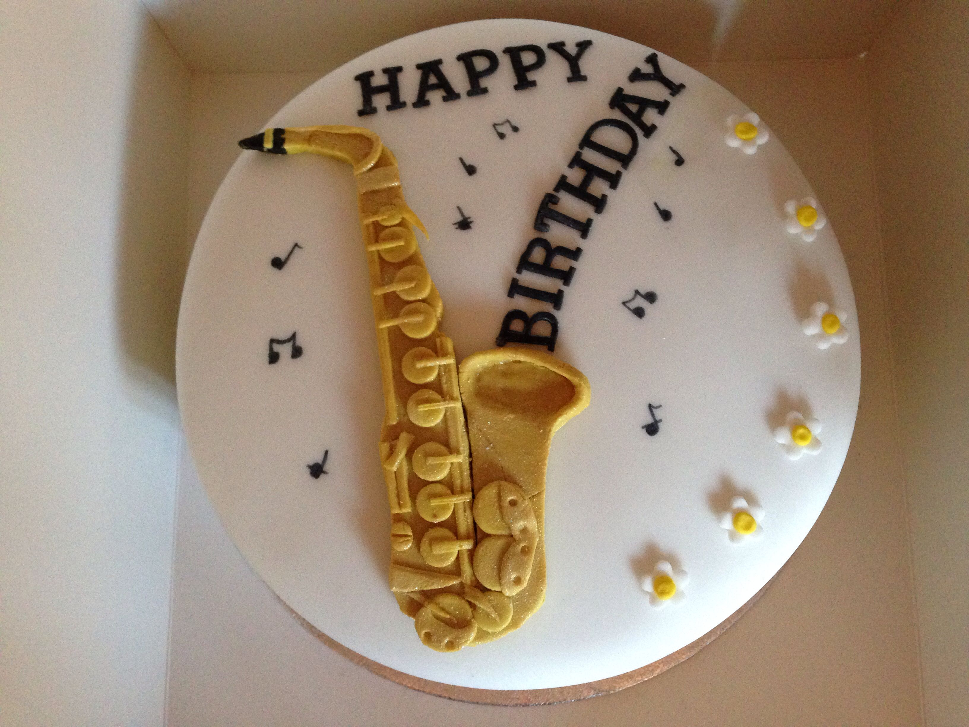 Saxophone Birthday Cake Images