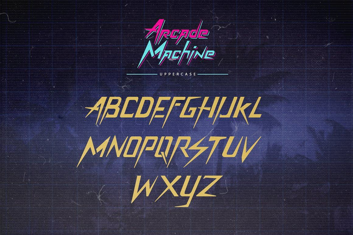 Arcade Machine 80's Retro Font #memorable#inspired#font