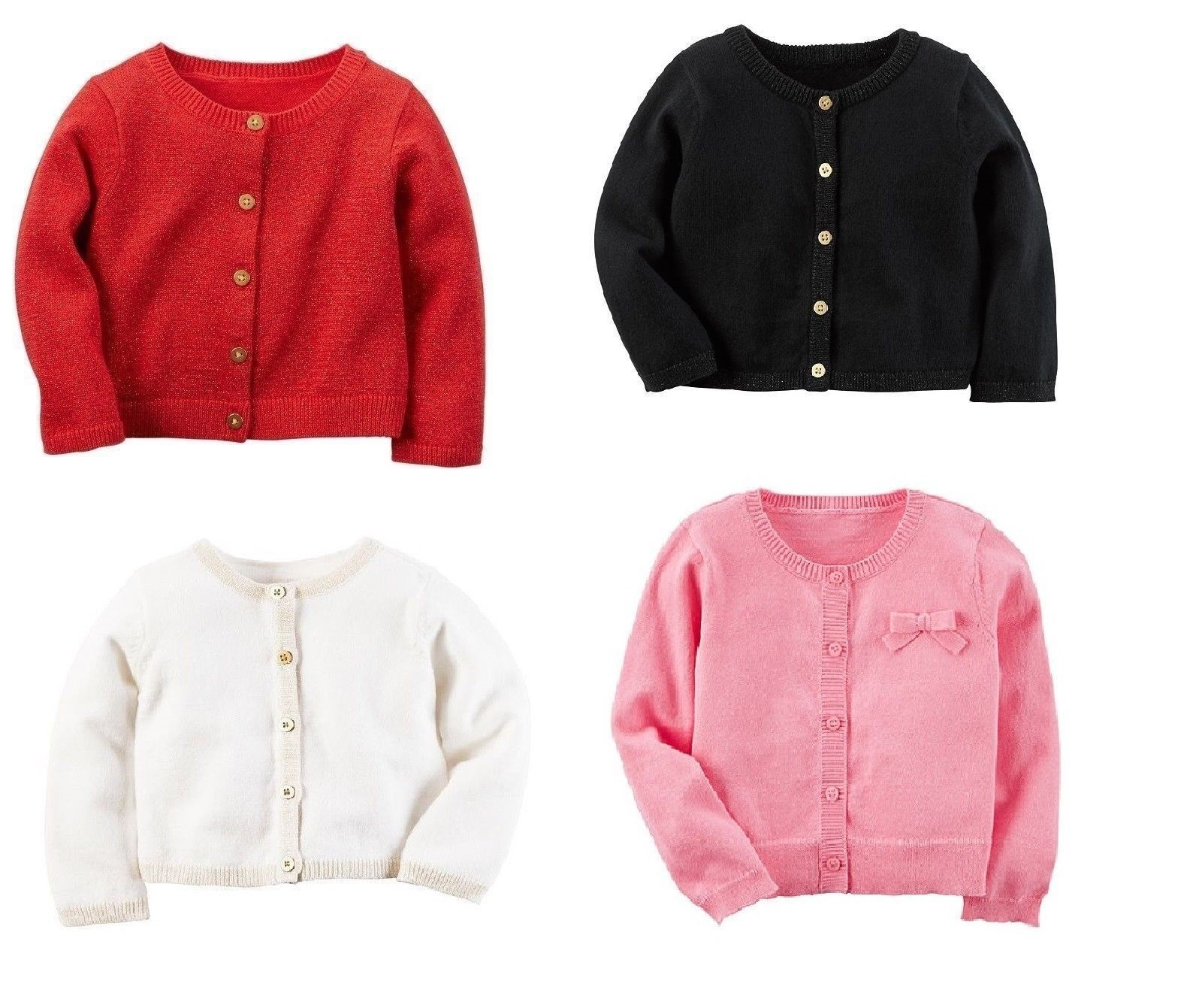 01a9abbf3f0 Sweaters 147216  Nwt Carters Infant Girls Dressy Sparkle Cardigan Sweater  Many Colors And Styles -  BUY IT NOW ONLY   12.99 on  eBay  sweaters   carters ...