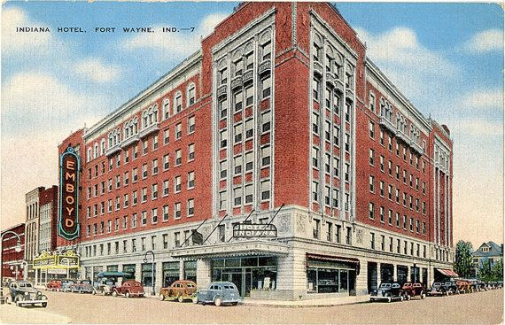 Vintage Indiana Postcard Of The Hotel In Fort Wayne