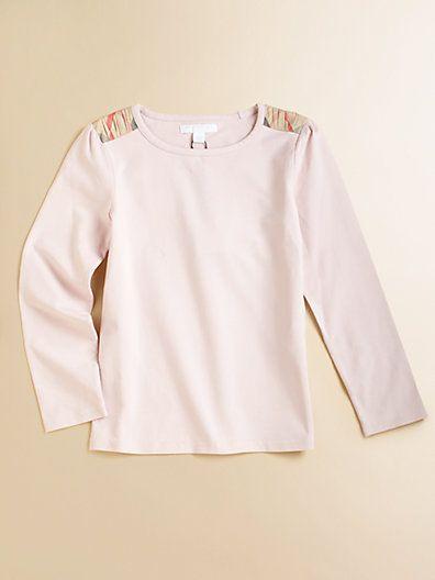 Burberry - Little Girl's Shoulder Check Top - Saks.com