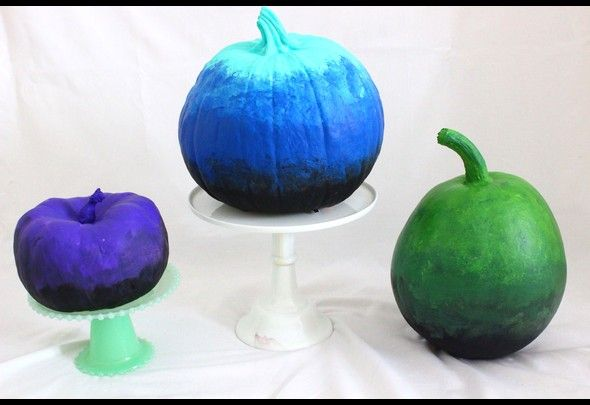 Spooky black ombre pumpkins for Halloween! DIY Crafts Pinterest - halloween diy crafts